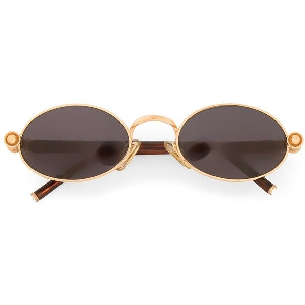 c4c83d1a39 Gianfranco Ferre Vintage oval frame sunglasses (277 CAD) ❤ liked on  Polyvore featuring accessories