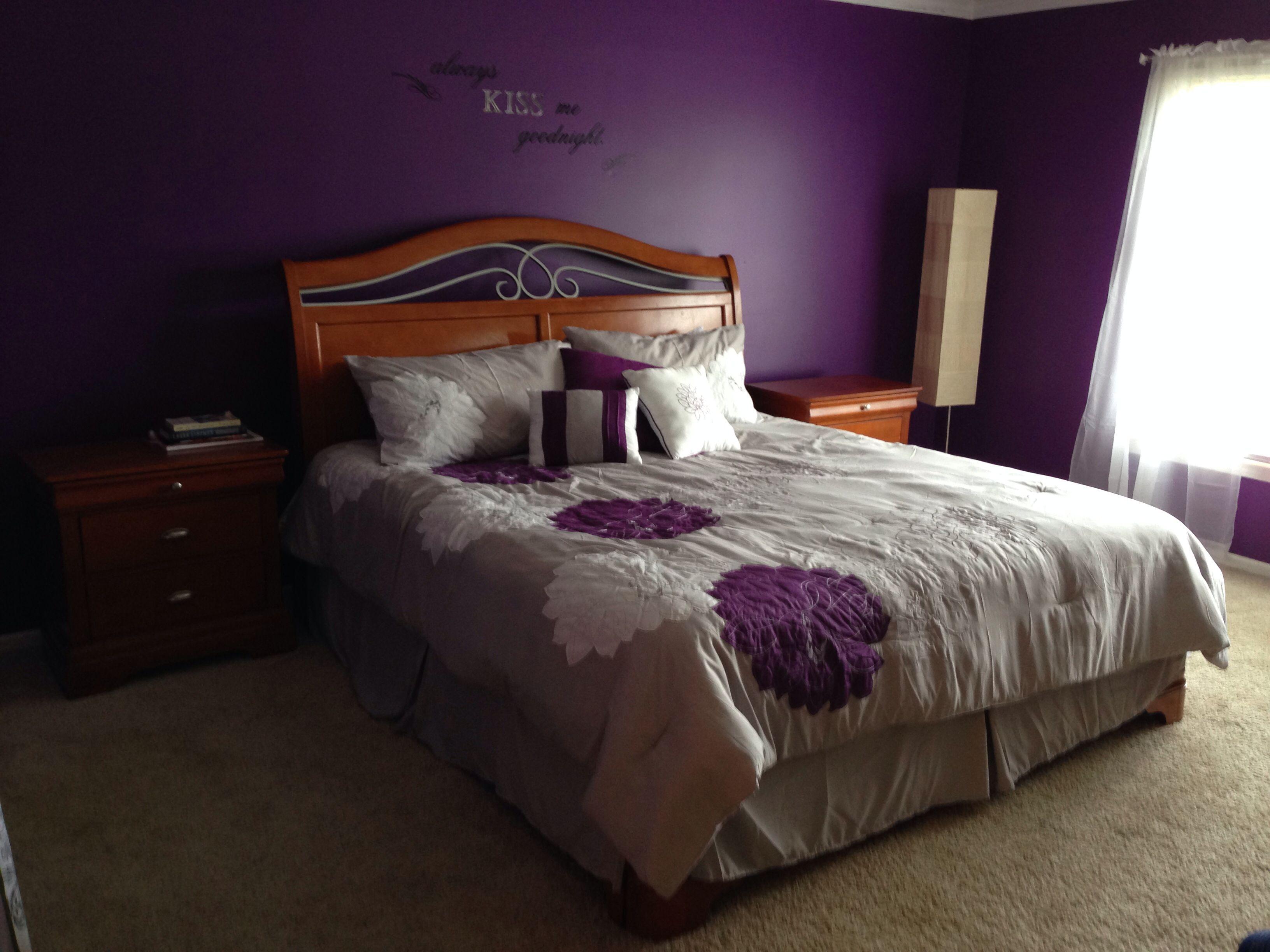 Purple & gray bedroom Bedding from kinglinen Paint impulsive