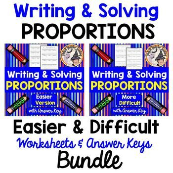Writing And Solving Proportions Worksheets With Answer Keys Bundle Differentiate Solving Proportions Proportions Worksheet Word Problem Worksheets Solving proportions worksheets