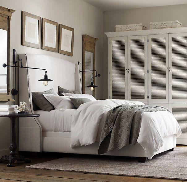 "Restoration Hardware Apartment: Dream Bed :[ Warner Nailhead Upholstered 68"" Bed"