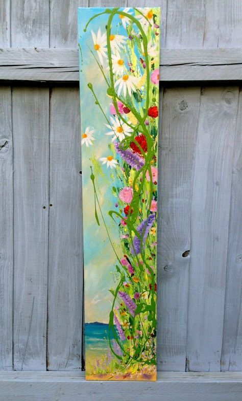 Summer Time 2015 Acrylic Painting By Emma Sian Pritchard Art Painting Long Painting Creative Painting