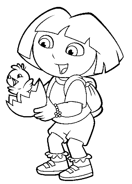 Dora Easter Printable Coloring Page Coloring Pages Printable Coloring Pages Printable Coloring