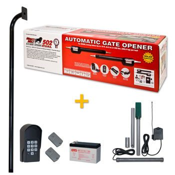 costco mighty mule premium tacoma ii automatic dual gate opener package