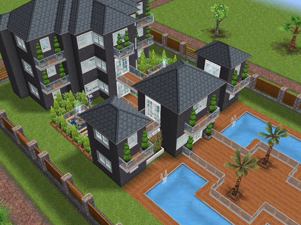 House 66 ground level #sims #simsfreeplay #simshousedesign | My ...