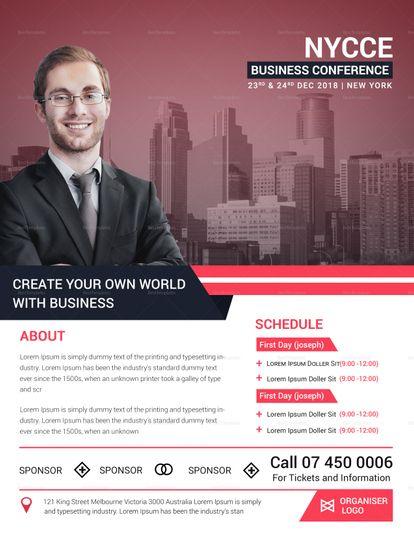 Elegant Business Conference Flyer Template  Design Flyer