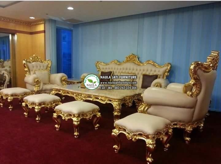 Pusatnya Kursi Sofa Ruang Tamu Mewah Emas Jepara Terbaru 2017 Dengan Harga Murah Dan Kualitas Terjamin Bergaransi