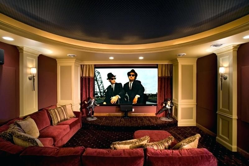 Home Theatre Room Modern House Plan Theater Room Plans Home