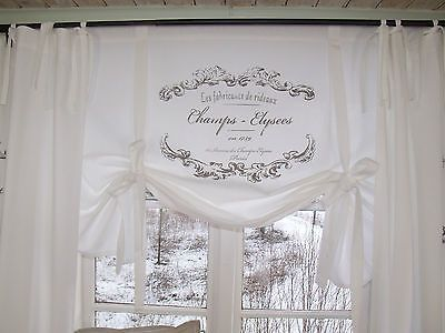 Lillabelle Elegance Raff Gardine Rollo 120x100 Weiss Shabby Landhaus Vintage Gardinen Rollo Vintage Gardinen