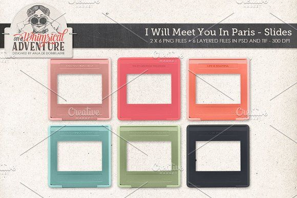 I Will Meet You In Paris Slides by On A Whimsical Adventure on @creativemarket