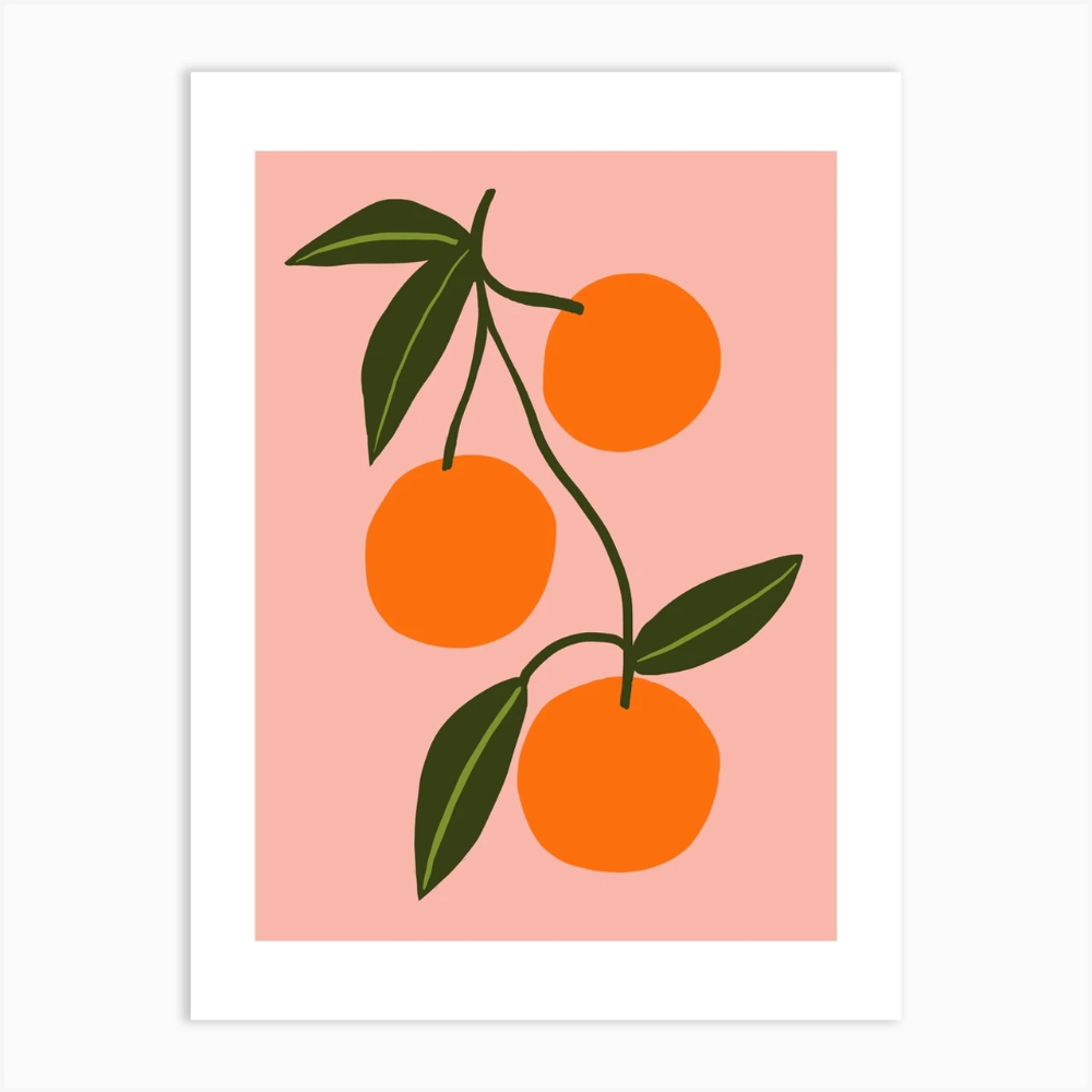 Orange Squeeze Art Print -   diy Tumblr art