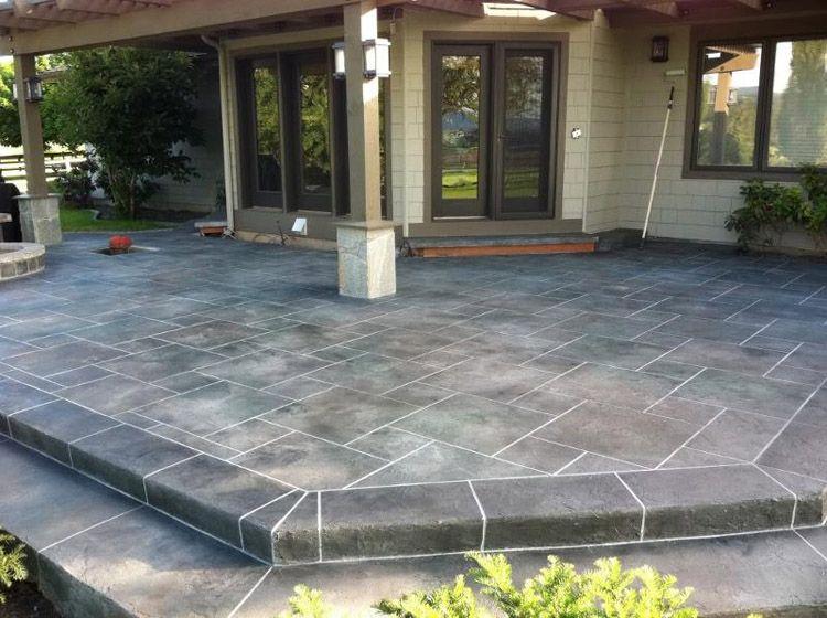 Stamped Concrete Patio Designs   CSS EMULSION™ Concentrated Concrete Sealer