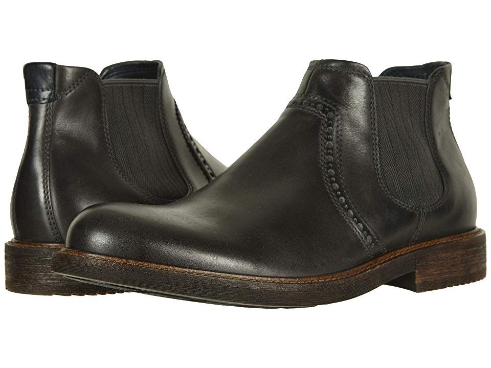 a41a595a2f ECCO Kenton Ankle Boot (Moonless) Men's Dress Pull-on Boots. The ...