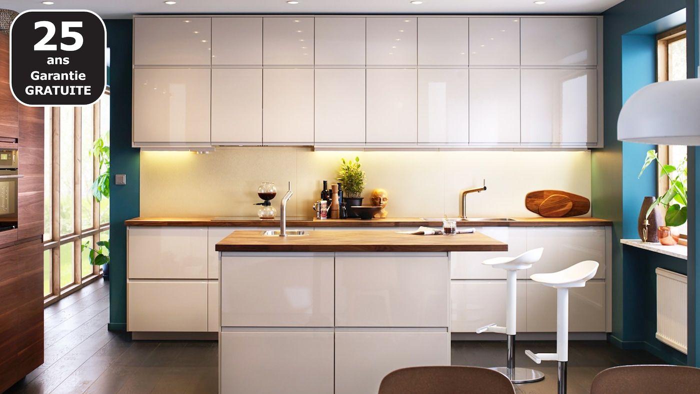 Page Finitions Cuisine Voxtorp Blanc Brillant En 2020 Separation Cuisine Salon Decoration Cuisine Et Cuisine Beige