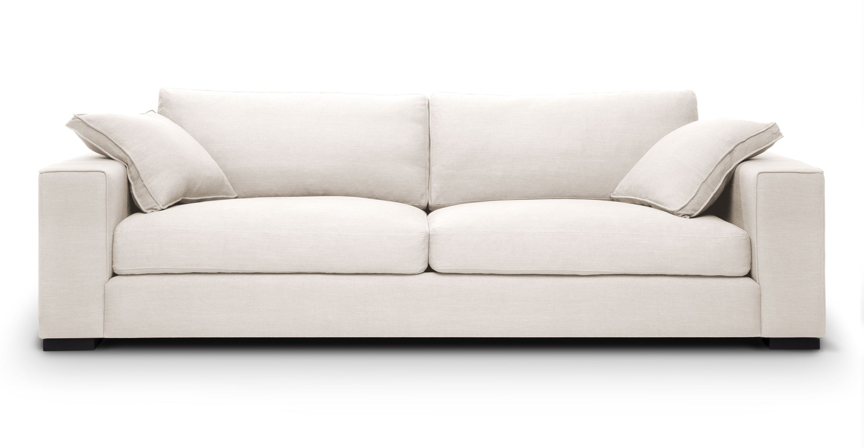 White Sofa With Solid Wood Legs | Article Stika Modern Furniture