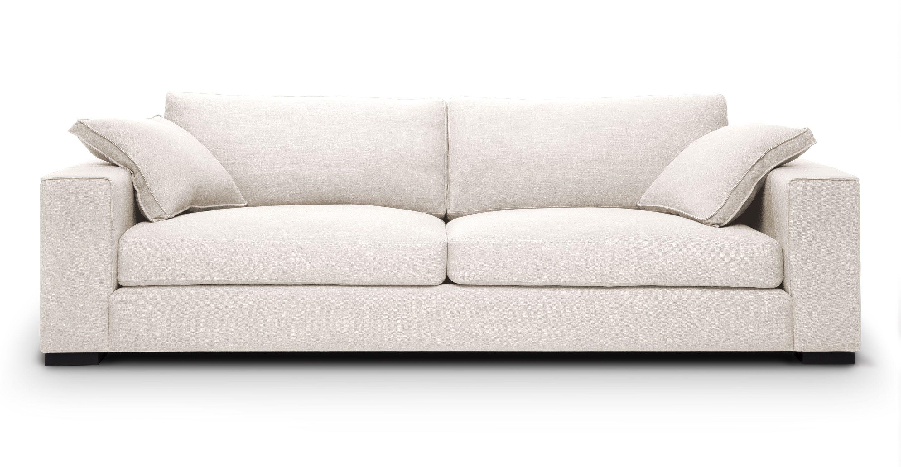 Sitka Quartz White Sofa White sofas, Contemporary sofa