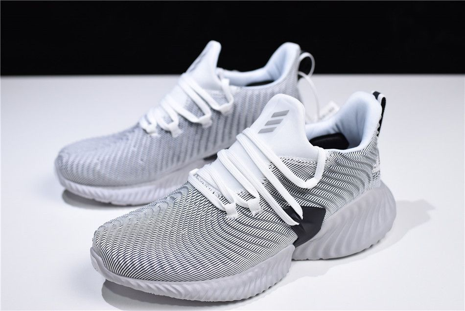 "96717497f1fcb 2018 adidas AlphaBounce Instinct ""Cloud White"" White Grey-Core Black CG5590"
