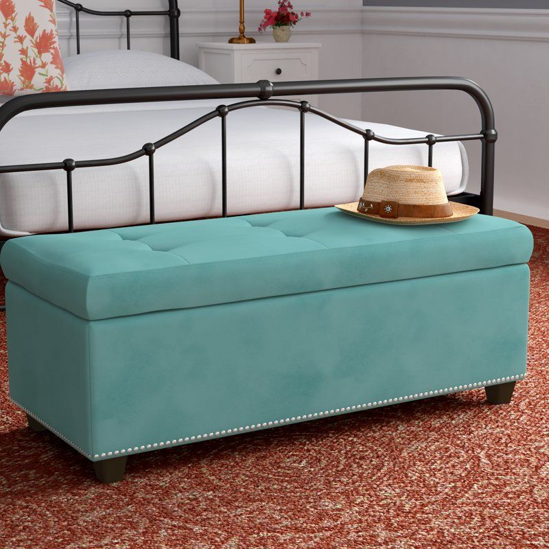 Amazing Pelayo Tufted Storage Ottoman Farmhouse Style In 2019 Squirreltailoven Fun Painted Chair Ideas Images Squirreltailovenorg