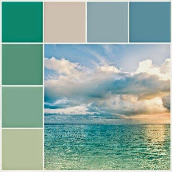 Sensaciones De Hogar Decorando Inspirado En Los Colores Del Mar Paleta De Color Verde Gama De Colores Verdes Esquemas De Color Azul