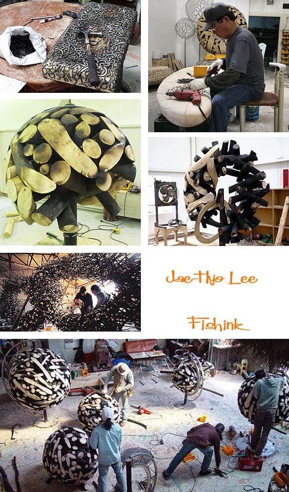 Jae Hyo Lee Korean Natural Sculptures | Sculpture, Wooden art, Garden landscape design