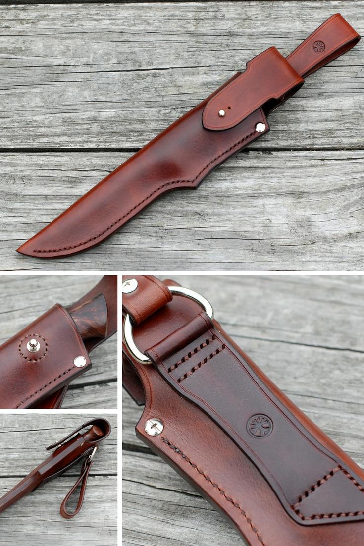 Custom Handmade Leather Sheath Hunting Knife Hand Stitched Leather Sheath Knife Case Knives