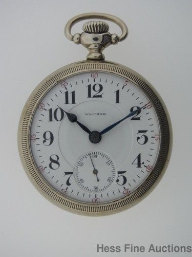 Antique Waltham 18s 1892 Model Crescent St Railroad Massive 21J Pocket Watch