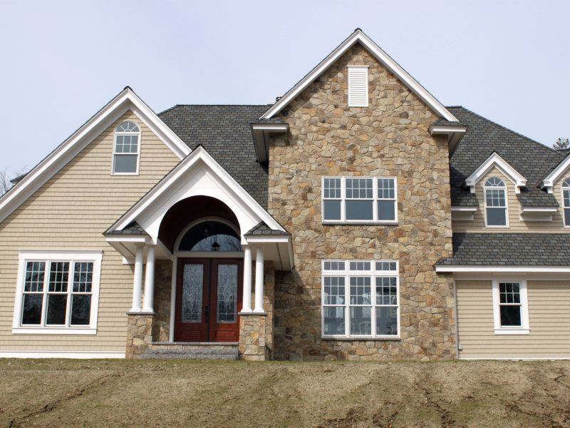 Exterior stone siding on pinterest stone siding wayne homes and st - Houses natural stone facades ...