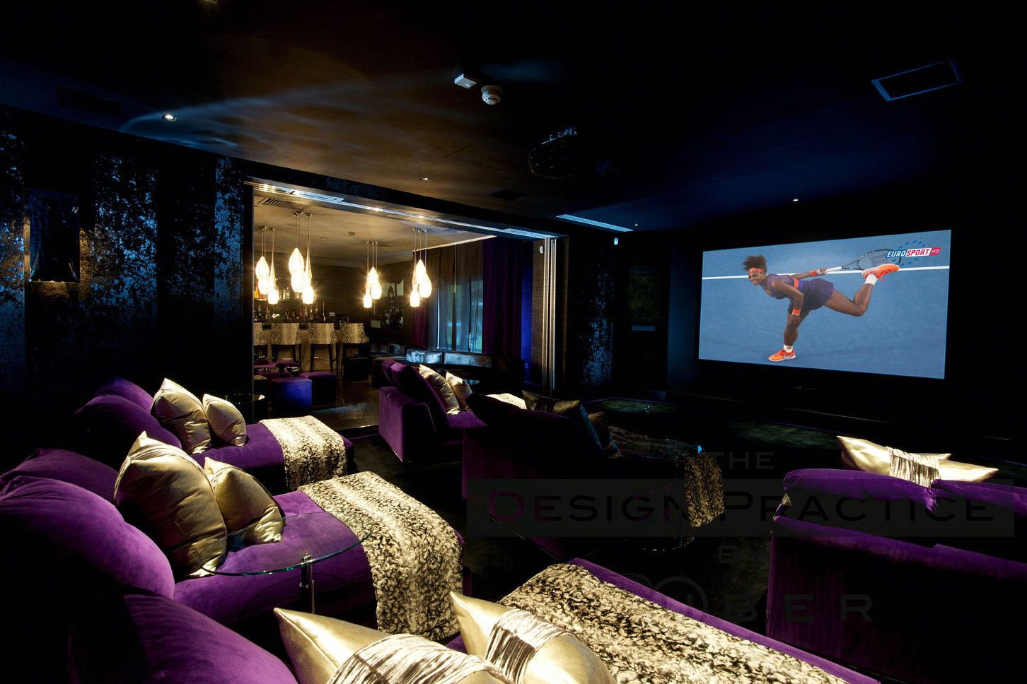 Private Cinema Room Through To Bar The Design Company By Uber