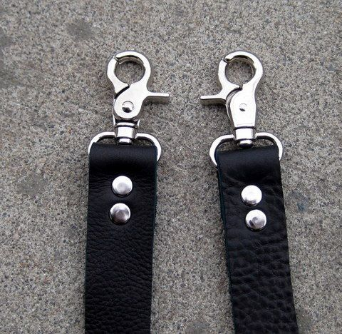 1 Wide Black Leather Purse Bag Strap Measuring 33 In Length From