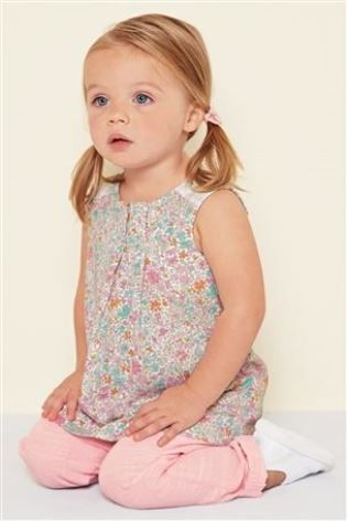 Buy Pink Ditsy Tunic And Pink Trousers Set (3mths-6yrs) from the Next UK online shop