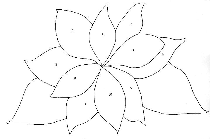 Dibujos De Flores De Pascuas De Navidad Para Pintar Png 718 475 Patrones Flores En Foami Moldes Patchwork