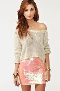 Iridescent Sequin Skirt