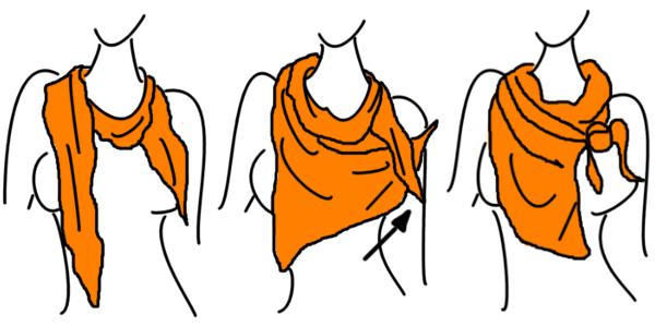 4 wege einen schal zu binden hermes scarves in 2018 pinterest binden tuch binden und. Black Bedroom Furniture Sets. Home Design Ideas
