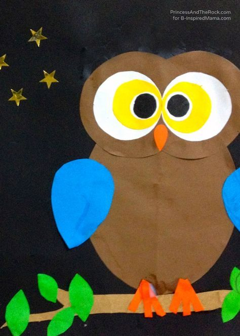 Wonderful Owl Craft Ideas For Kids Part - 4: A Shape-ly Owl Craft For Kids