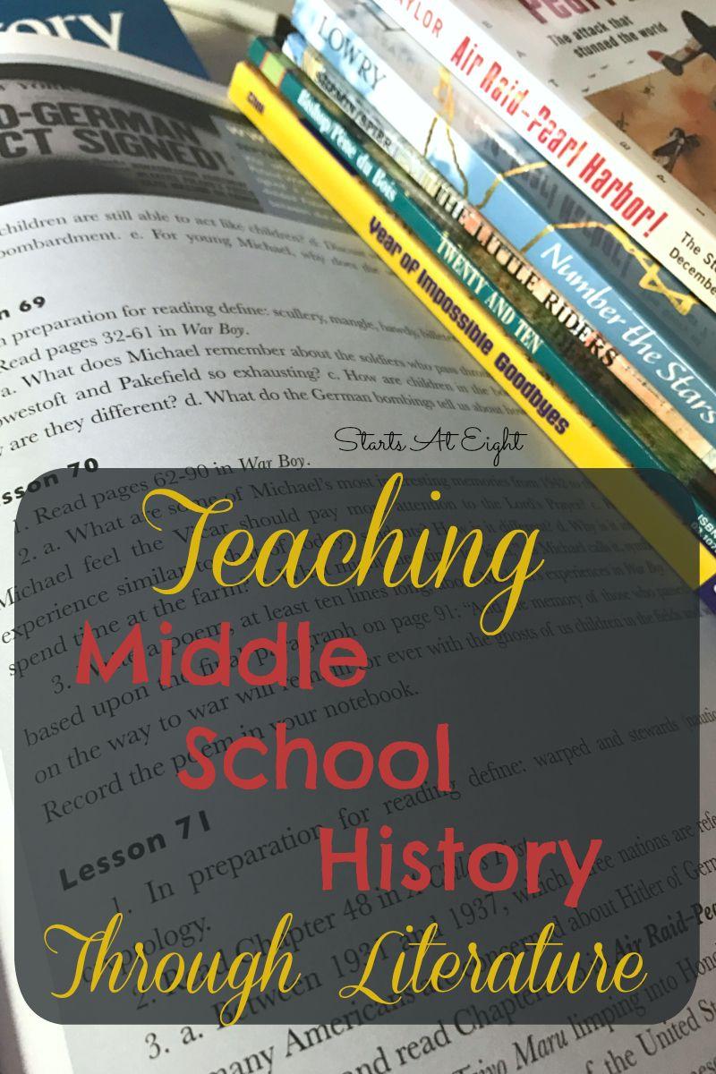 Teaching Middle School History Through Literature Homeschool