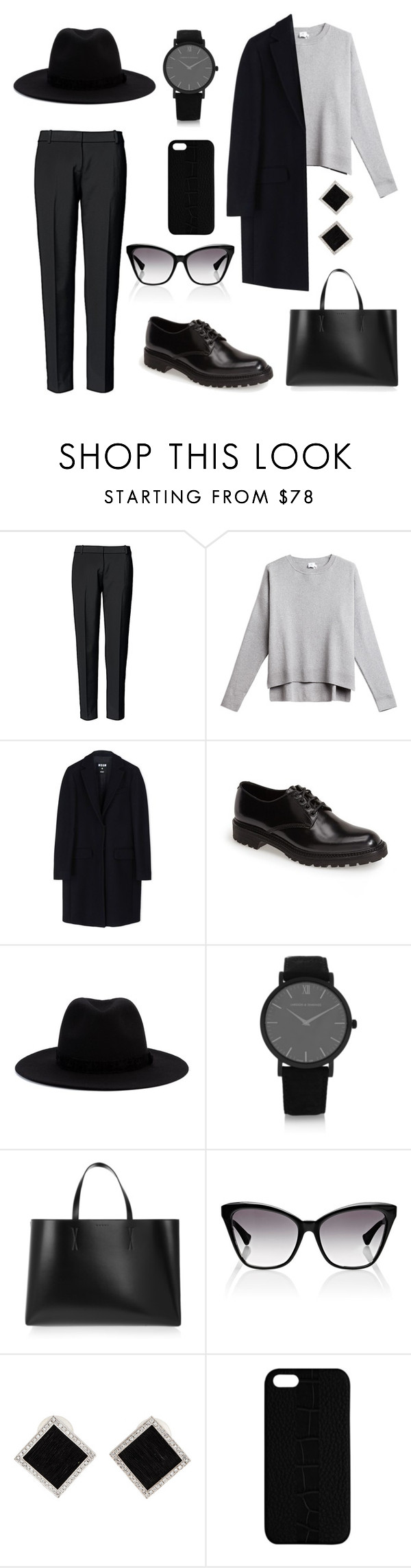 """Untitled #18"" by amatsumo ❤ liked on Polyvore featuring Trouvé, MSGM, Yves Saint Laurent, Nocturne #22 In C Sharp Minor, Op. Posth., Larsson & Jennings, Marni, Dita, Yvel and Maison Takuya"