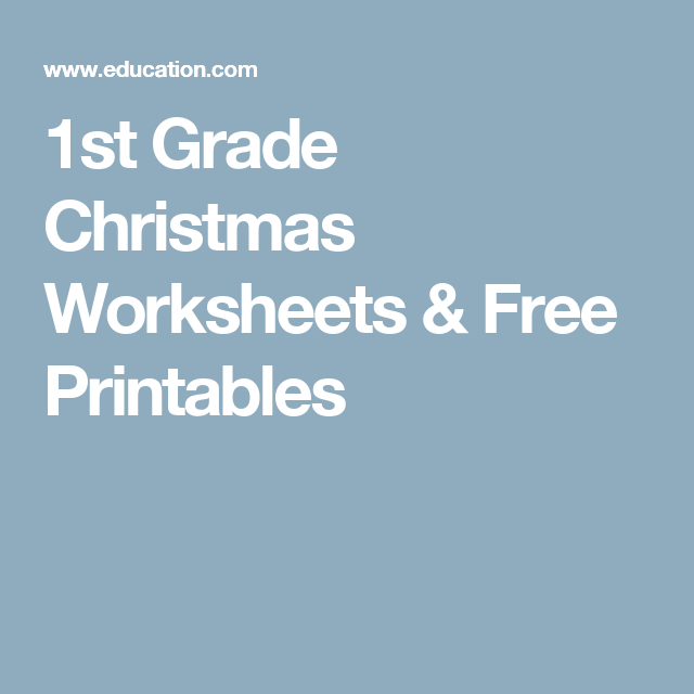 1st Grade Christmas Worksheets & Free Printables | First grade ...