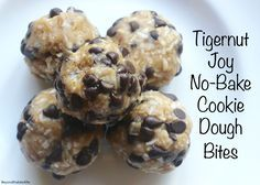 """Tigernut Joy"" Cookie Dough Bites - An AIP friendly riff on ""Almond Joys"" featuring Vital Protein's Collagen.  (Paleo, AIP-friendly)"