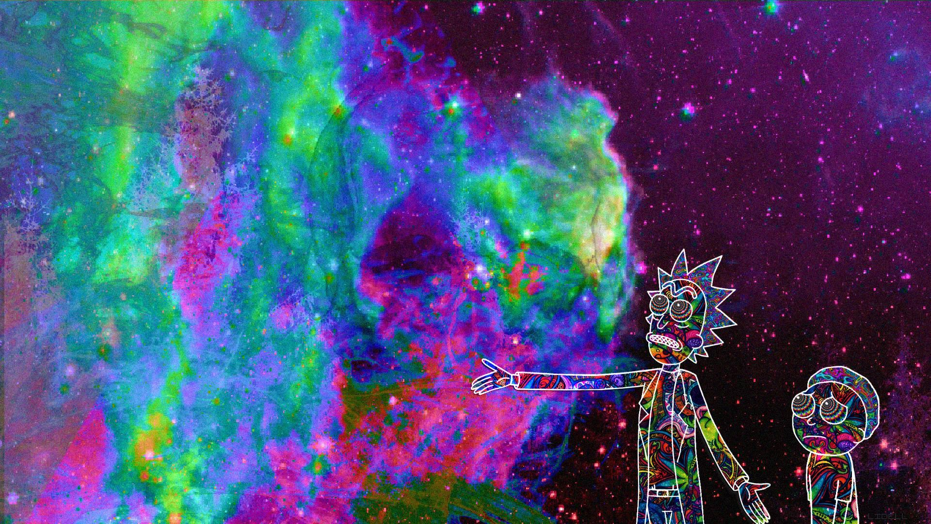 Rick And Morty Desktop Wallpapers 1920x1080 Desktop Wallpaper 1920x1080 Trippy Wallpaper Computer Wallpaper