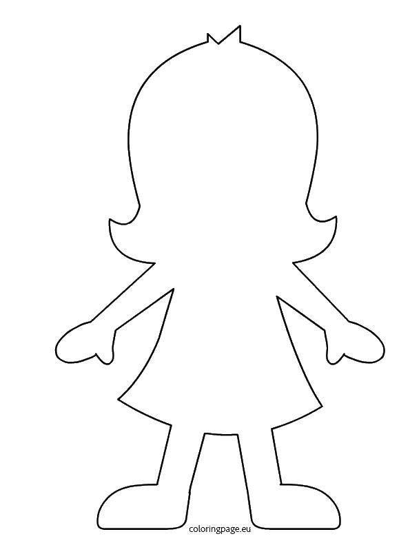 раскраска девочка скачать куклы контуры девочка