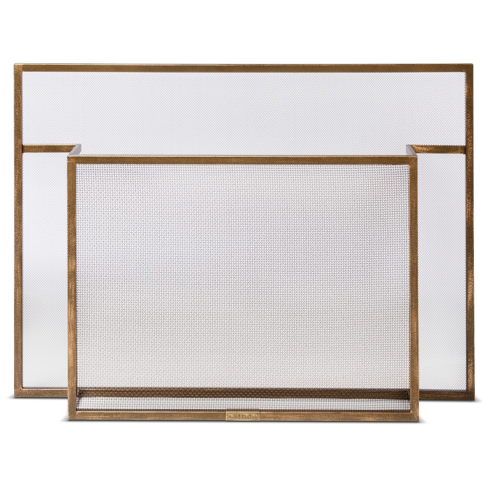 smith u0026 hawken carson fireplace screen burnished brass fireplace