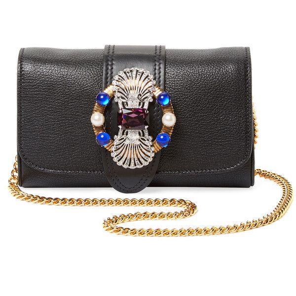 embellished buckle mini bag - Black Miu Miu IeCnlTsYG