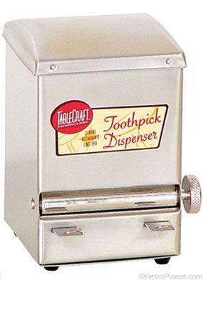 Restaurant Toothpick Dispenser Tablecraft Retro Appliances Retro Kitchen
