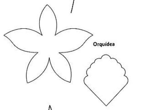 Como hacer una orquidea en foami patrones - Imagui | moldes ...