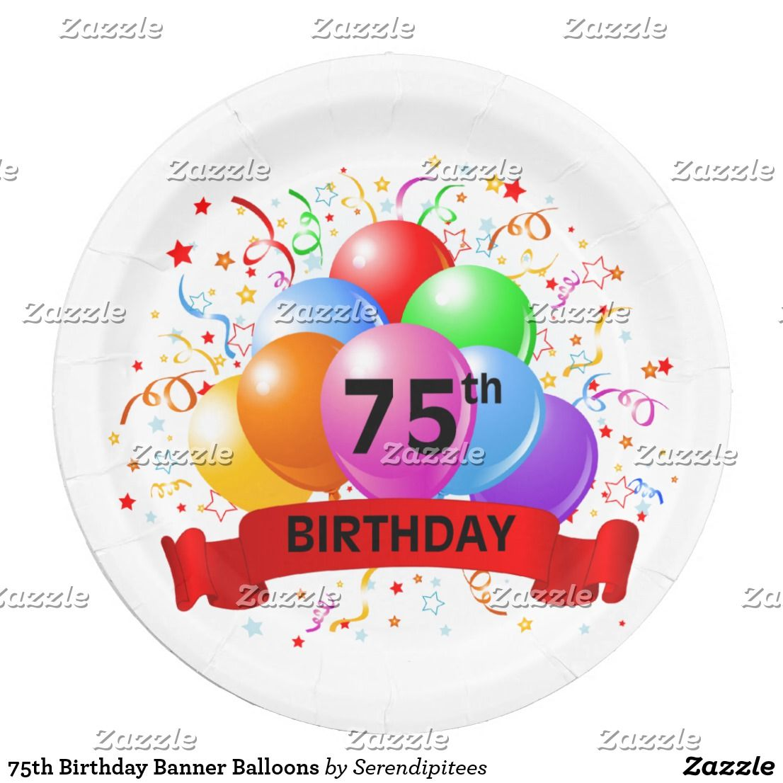 75th Birthday Banner Balloons