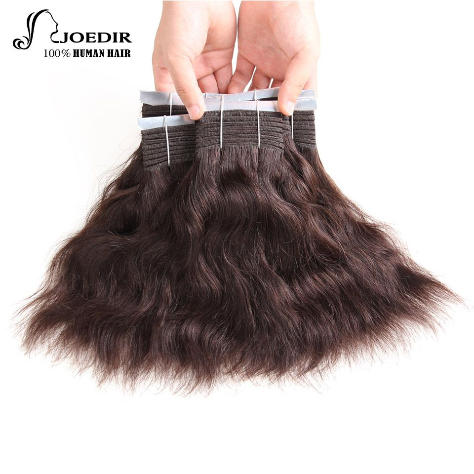 Joedir Pre Colored Indian Hair Natural Wave 8 And 10 Inch Non Remy