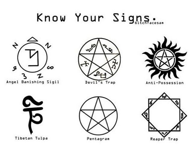 Supernatural Symbols 101 Poster By Cherylfails Supernatural