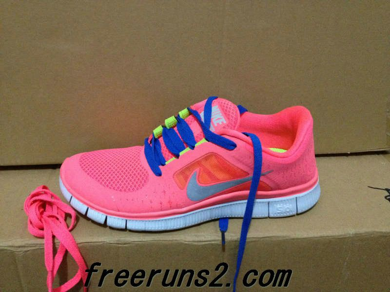 new style 0d620 0b497 Womens Nike Free Run 3 Hot Punch Reflective Silver Sol Volt Royal Blue Lace  New Nike Frees 2013 Shoes