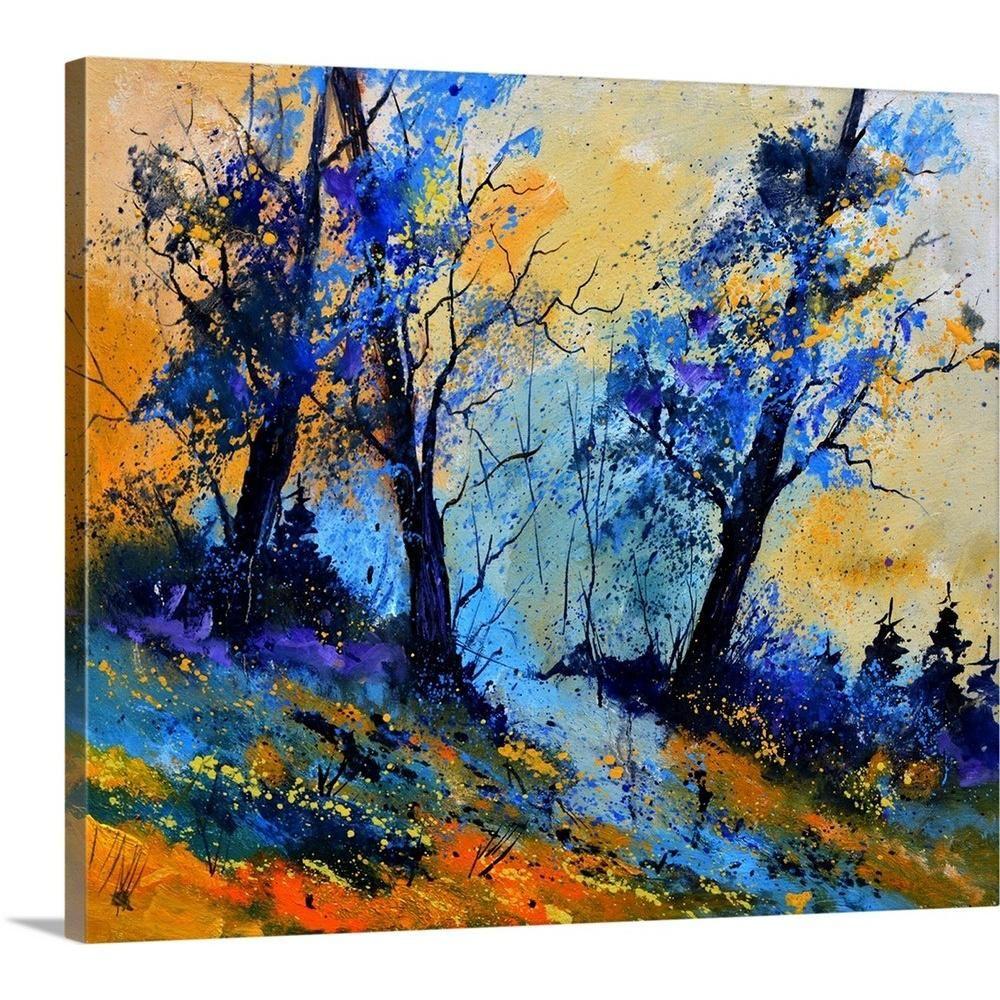Greatbigcanvas Magic Oaks6751 By Pol Ledent Canvas Wall Art Multi Color Painting Art Watercolor Paintings