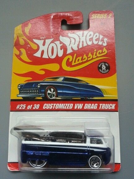 HOT WHEELS CUSTOMIZED VW DRAG BUS TRUCK CLASSICS SPECTRAFLAME BLUE