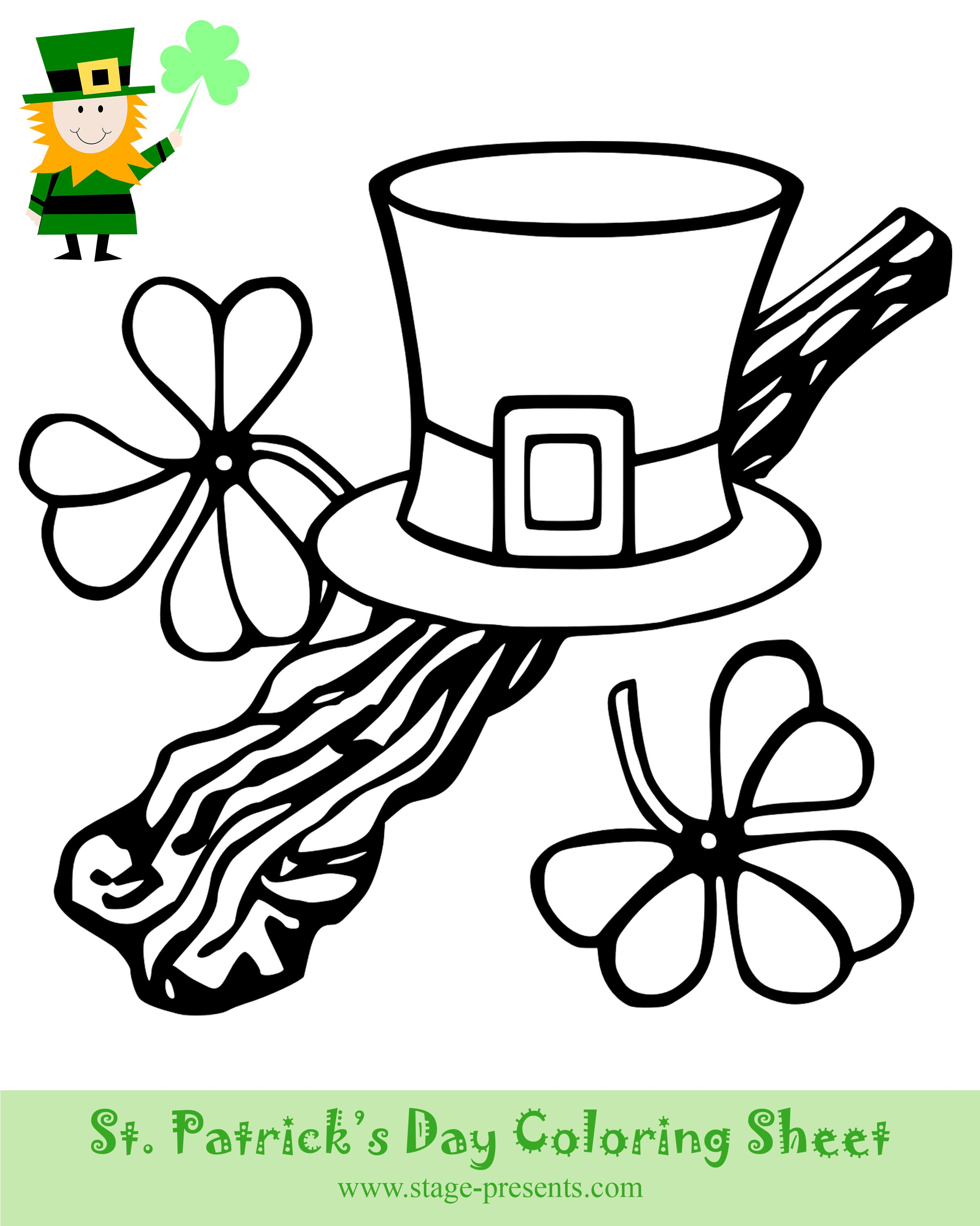 March 17th is St Patrick s Day Have some Coloring Fun with the